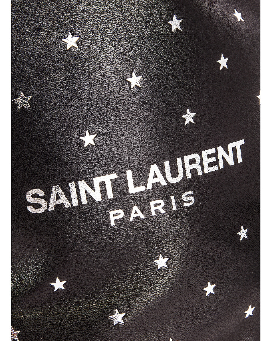 Image 7 of Saint Laurent Star Teddy Pouch Chain Bag in Black & Silver