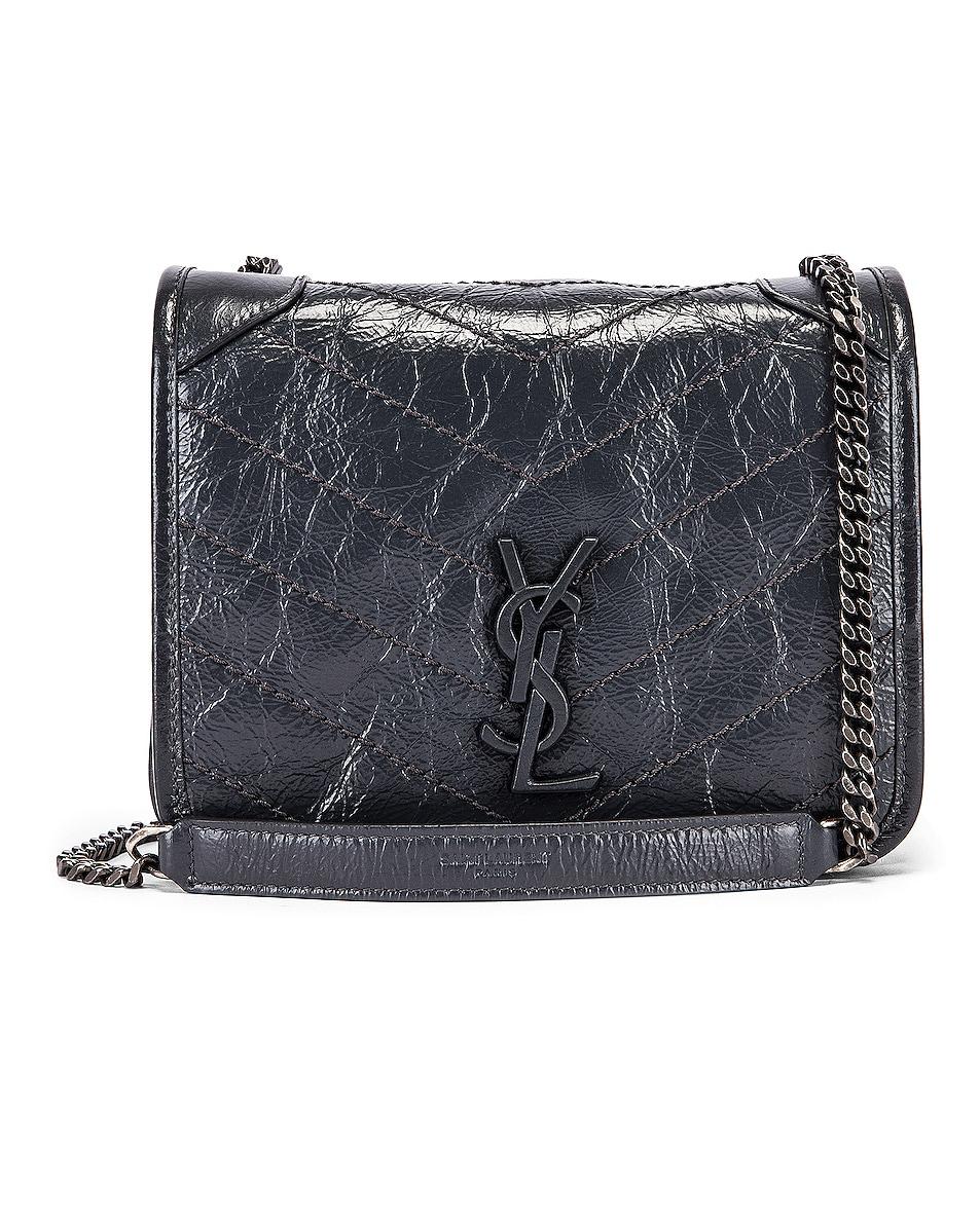 Image 1 of Saint Laurent Niki Wallet Chain Bag in Dark Smog