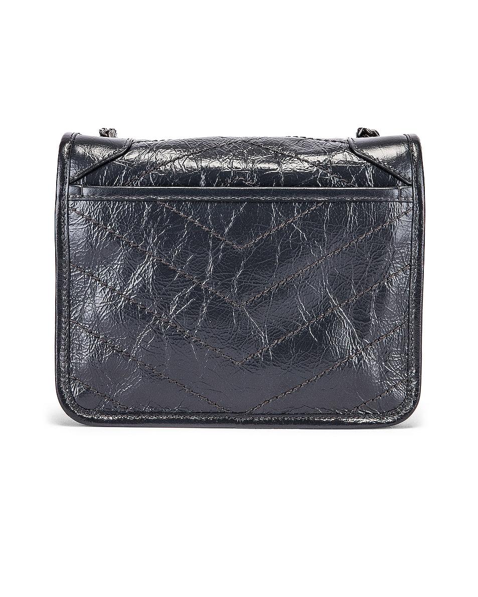 Image 3 of Saint Laurent Niki Wallet Chain Bag in Dark Smog