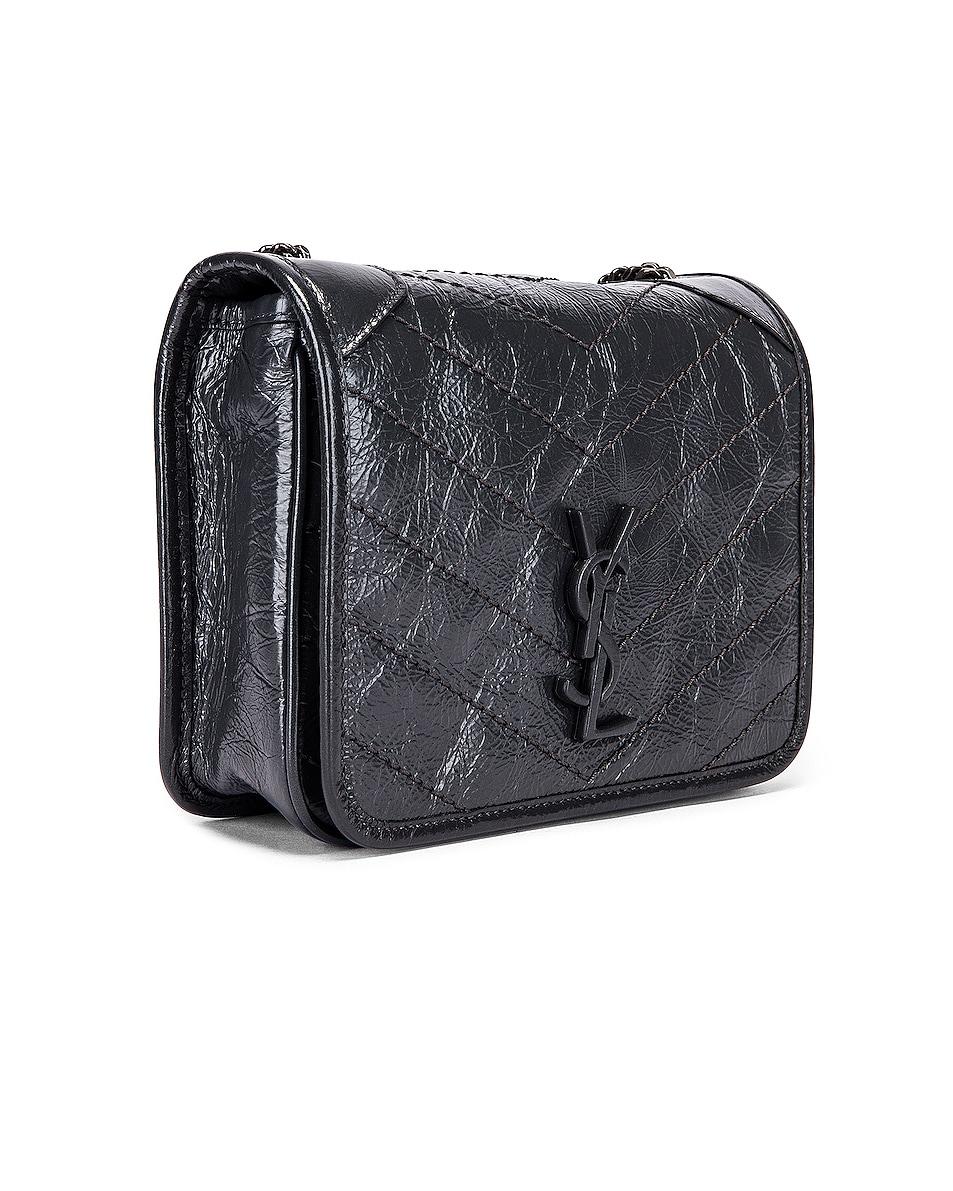 Image 4 of Saint Laurent Niki Wallet Chain Bag in Dark Smog
