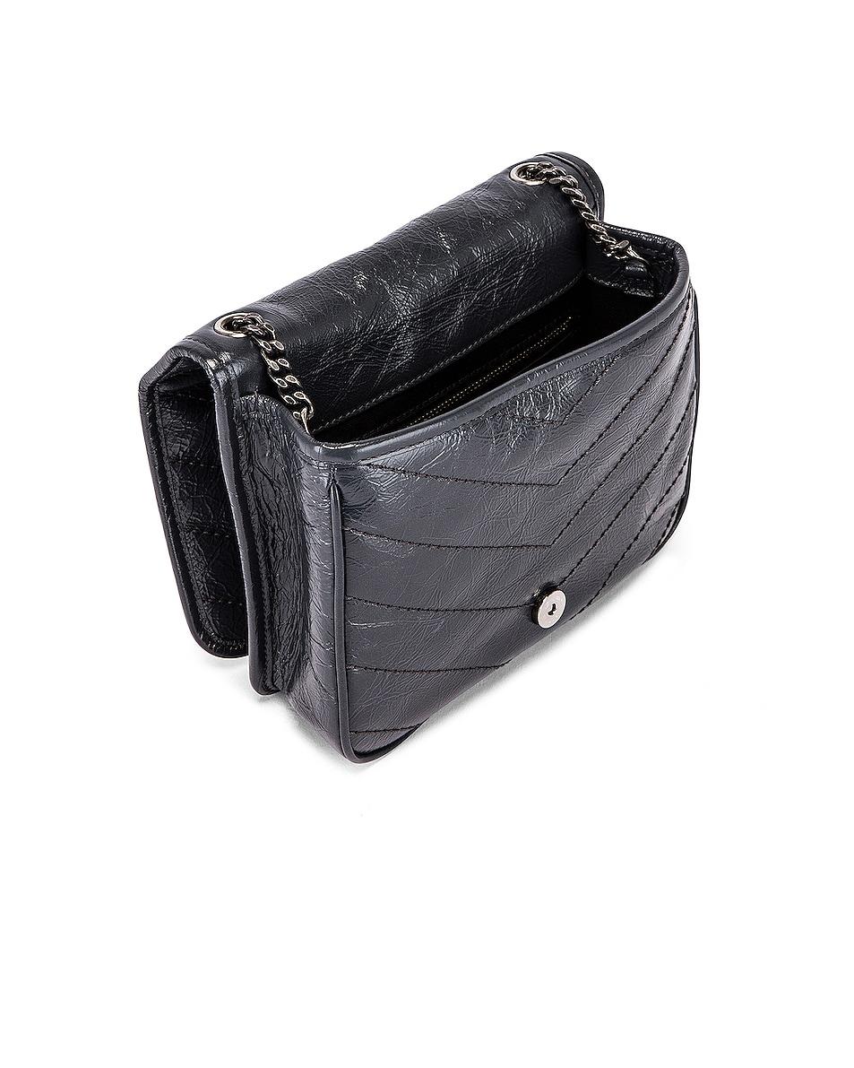 Image 5 of Saint Laurent Niki Wallet Chain Bag in Dark Smog