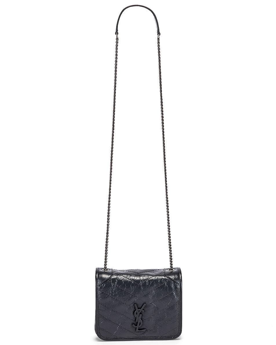 Image 6 of Saint Laurent Niki Wallet Chain Bag in Dark Smog