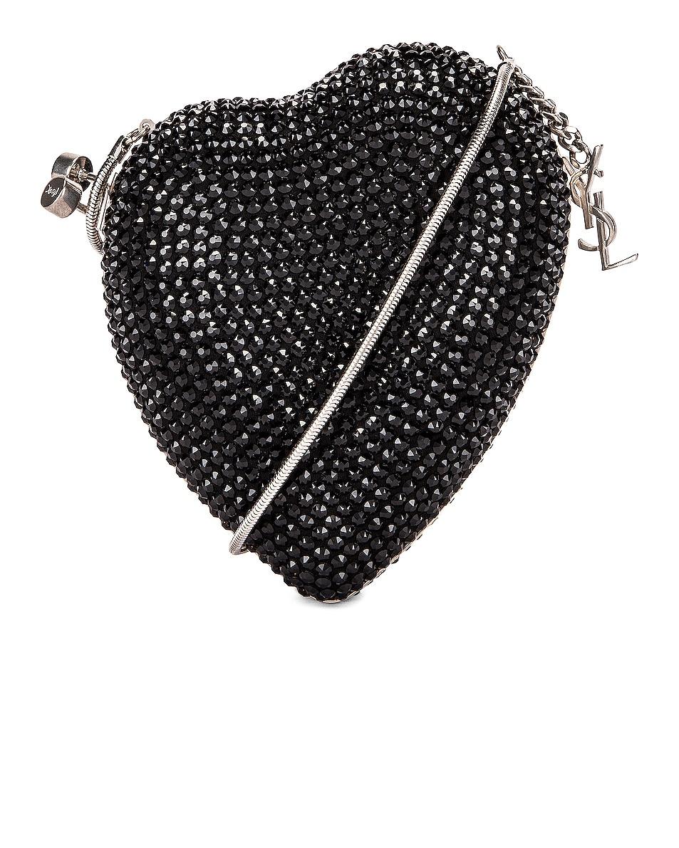 Image 1 of Saint Laurent Small Love Box Crossbody Bag in Black