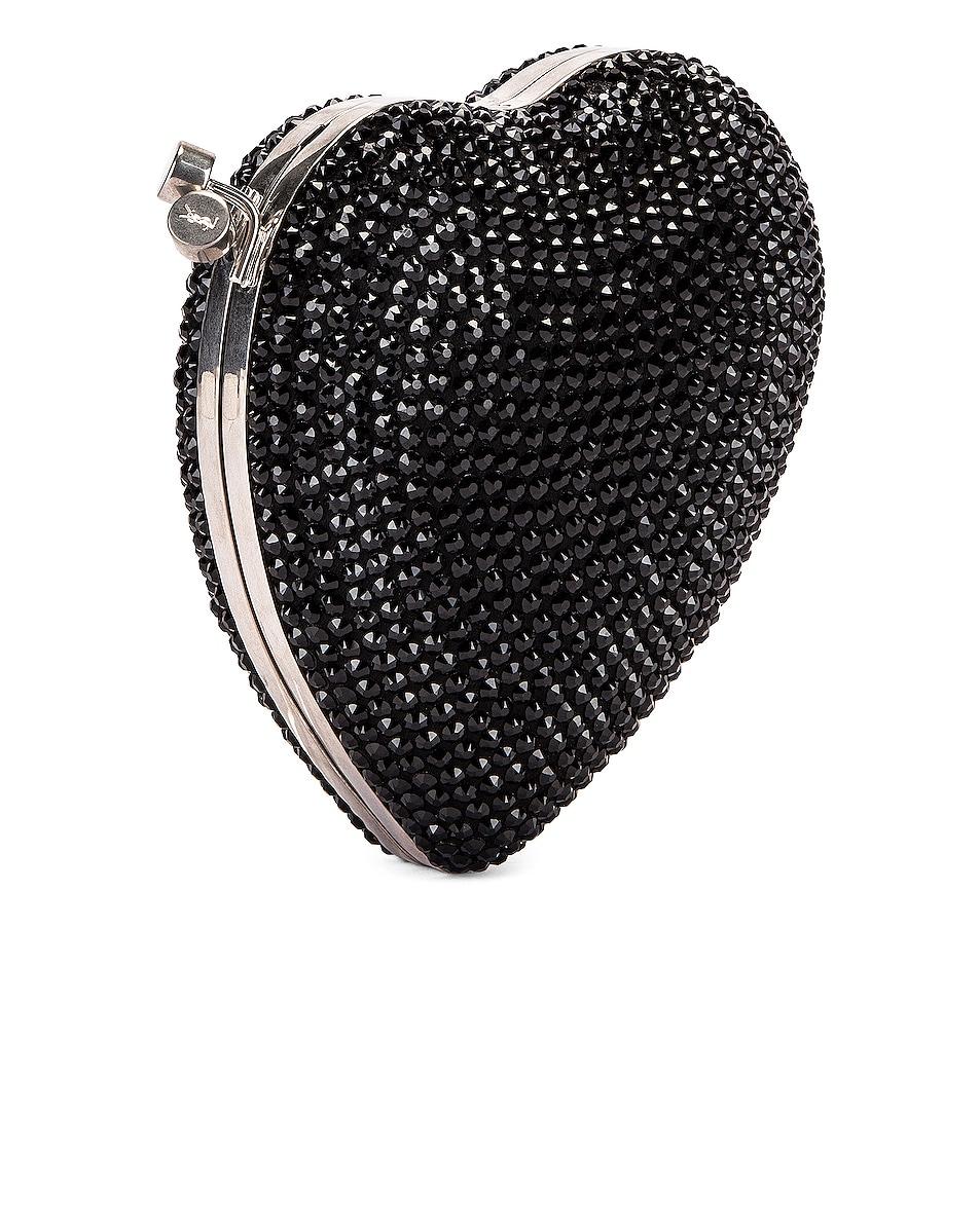 Image 4 of Saint Laurent Small Love Box Crossbody Bag in Black