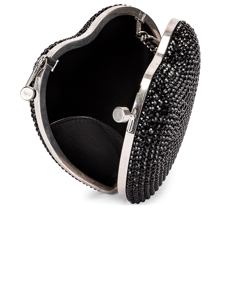 Image 5 of Saint Laurent Small Love Box Crossbody Bag in Black