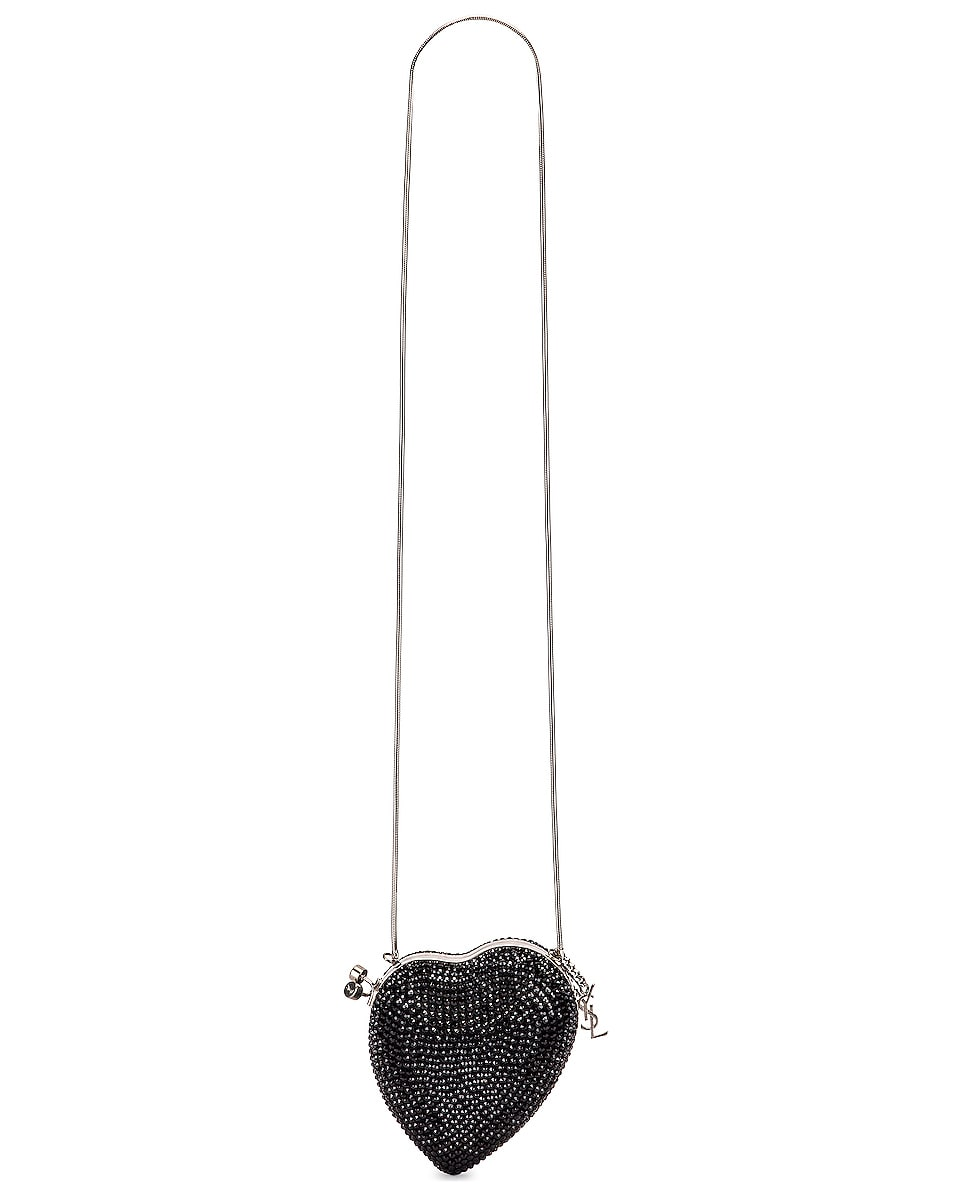 Image 6 of Saint Laurent Small Love Box Crossbody Bag in Black