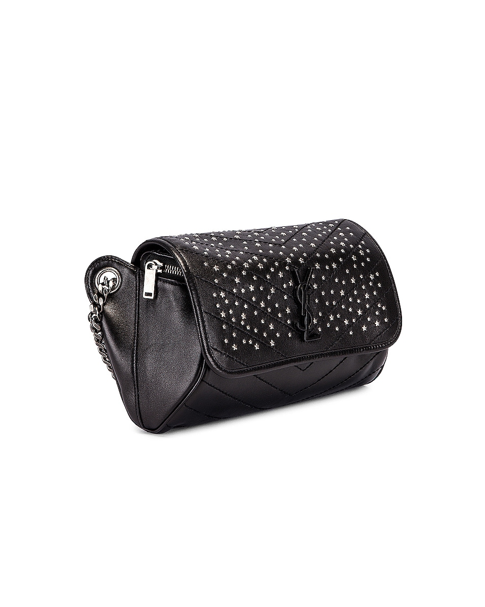 Image 3 of Saint Laurent Monogramme Stardust Monogramme Niki Body Bag in Black