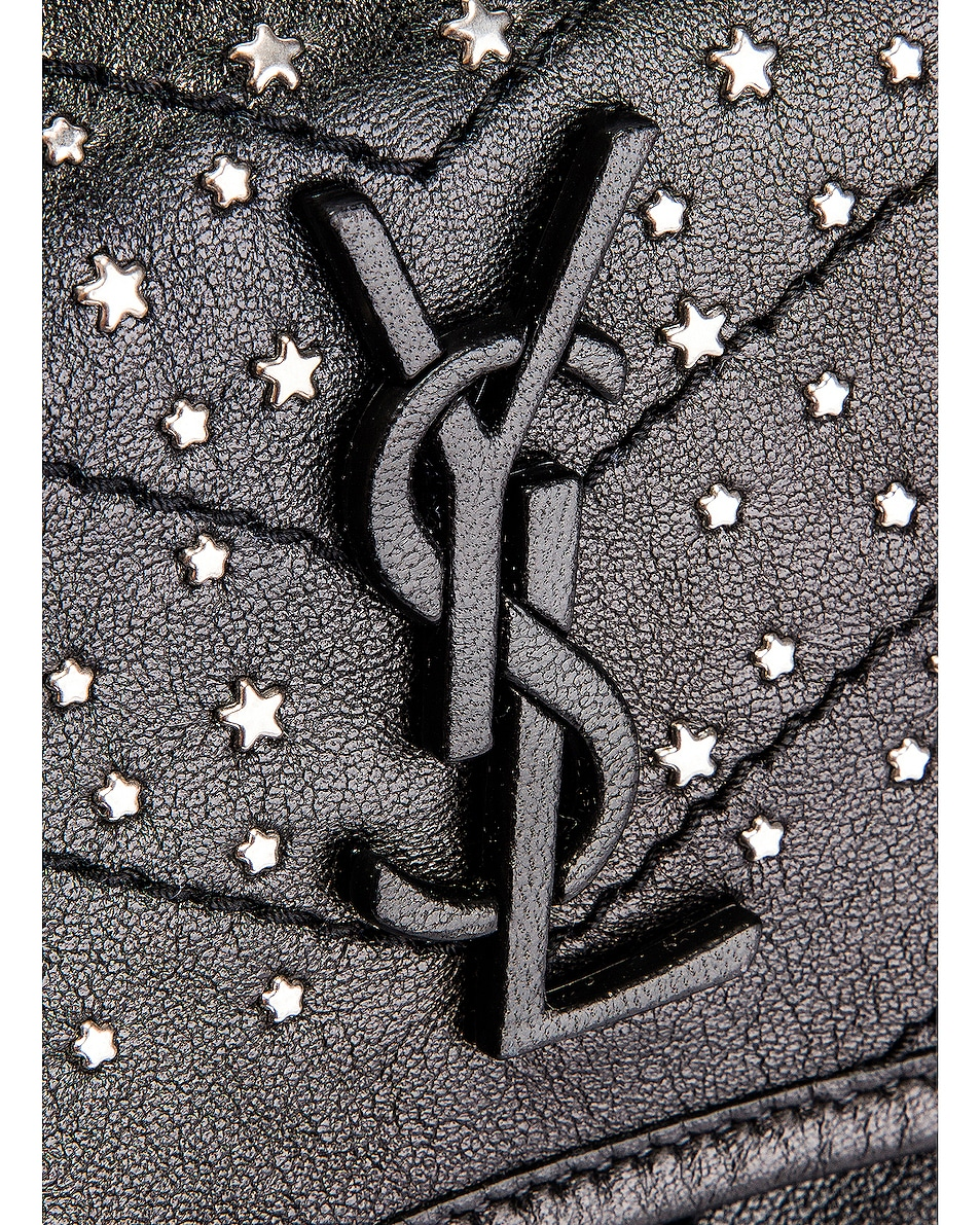 Image 7 of Saint Laurent Monogramme Stardust Monogramme Niki Body Bag in Black