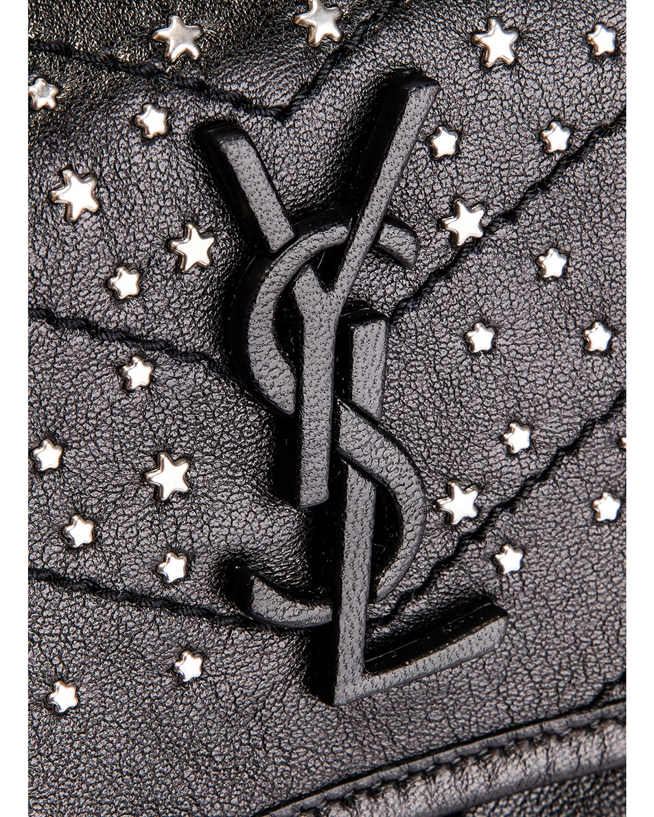 Image 8 of Saint Laurent Monogramme Stardust Monogramme Niki Body Bag in Black