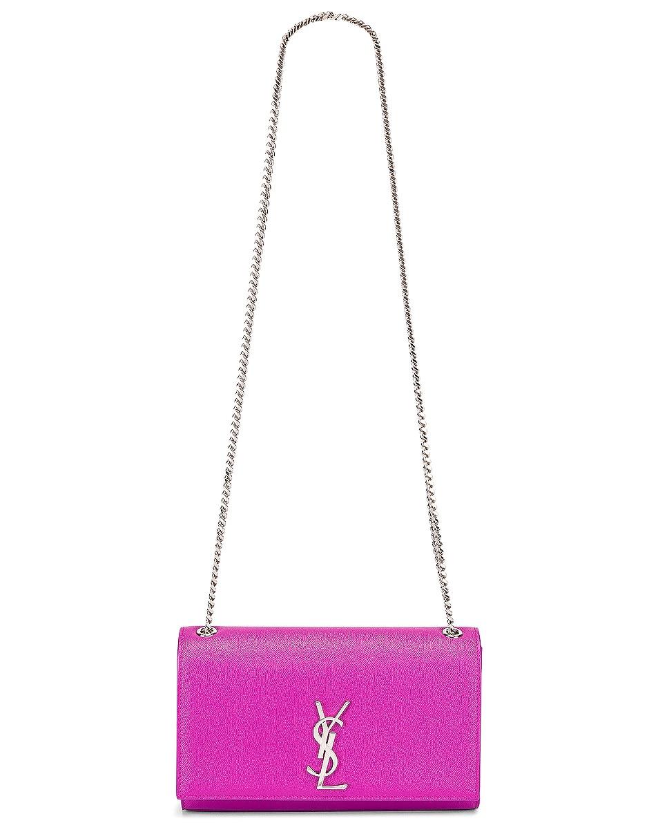 Image 6 of Saint Laurent Medium Kate Chain Bag in Light Fuchsia