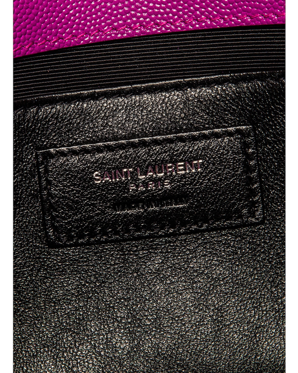 Image 7 of Saint Laurent Medium Kate Chain Bag in Light Fuchsia