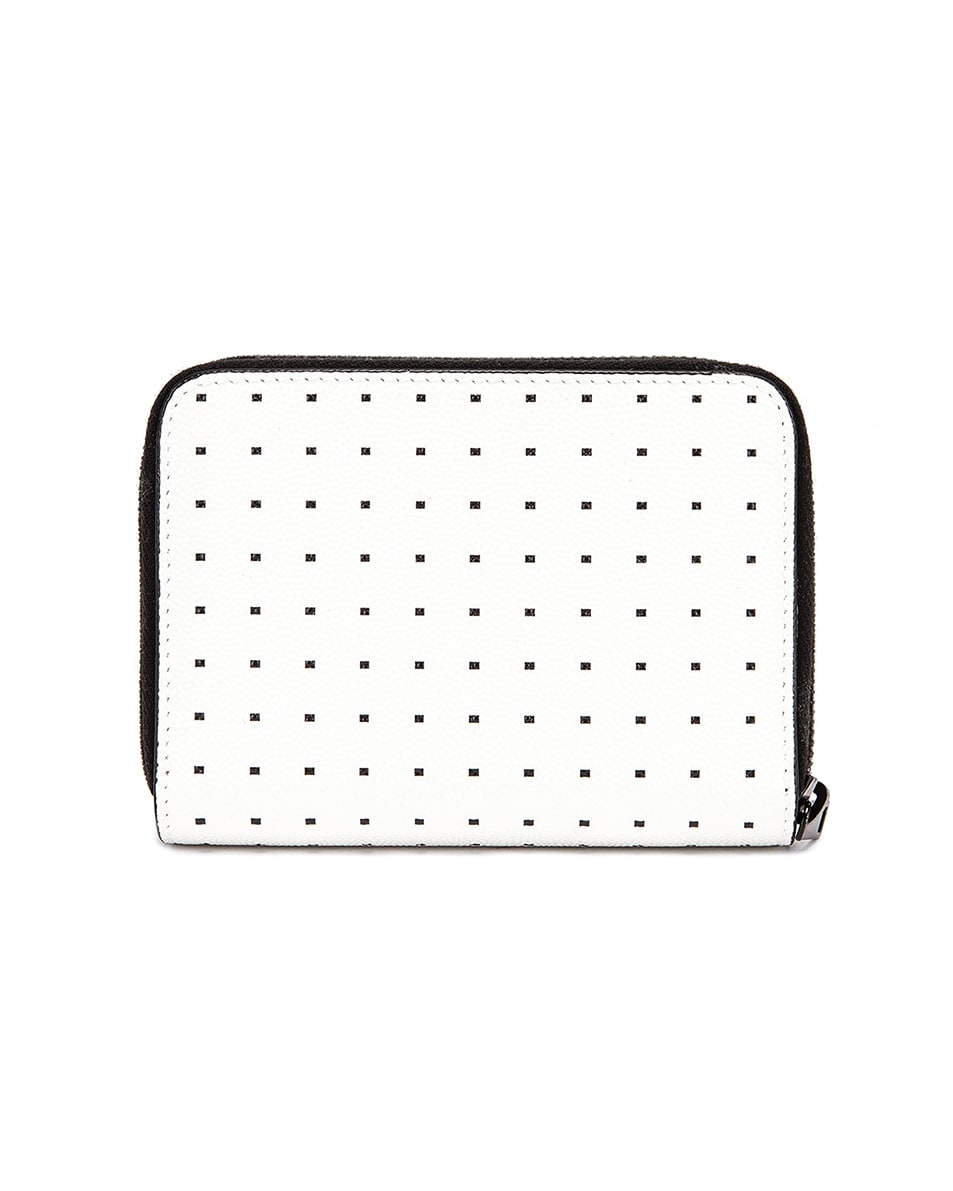 Image 2 of Saint Laurent Monogramme Dot Wallet in White & Black