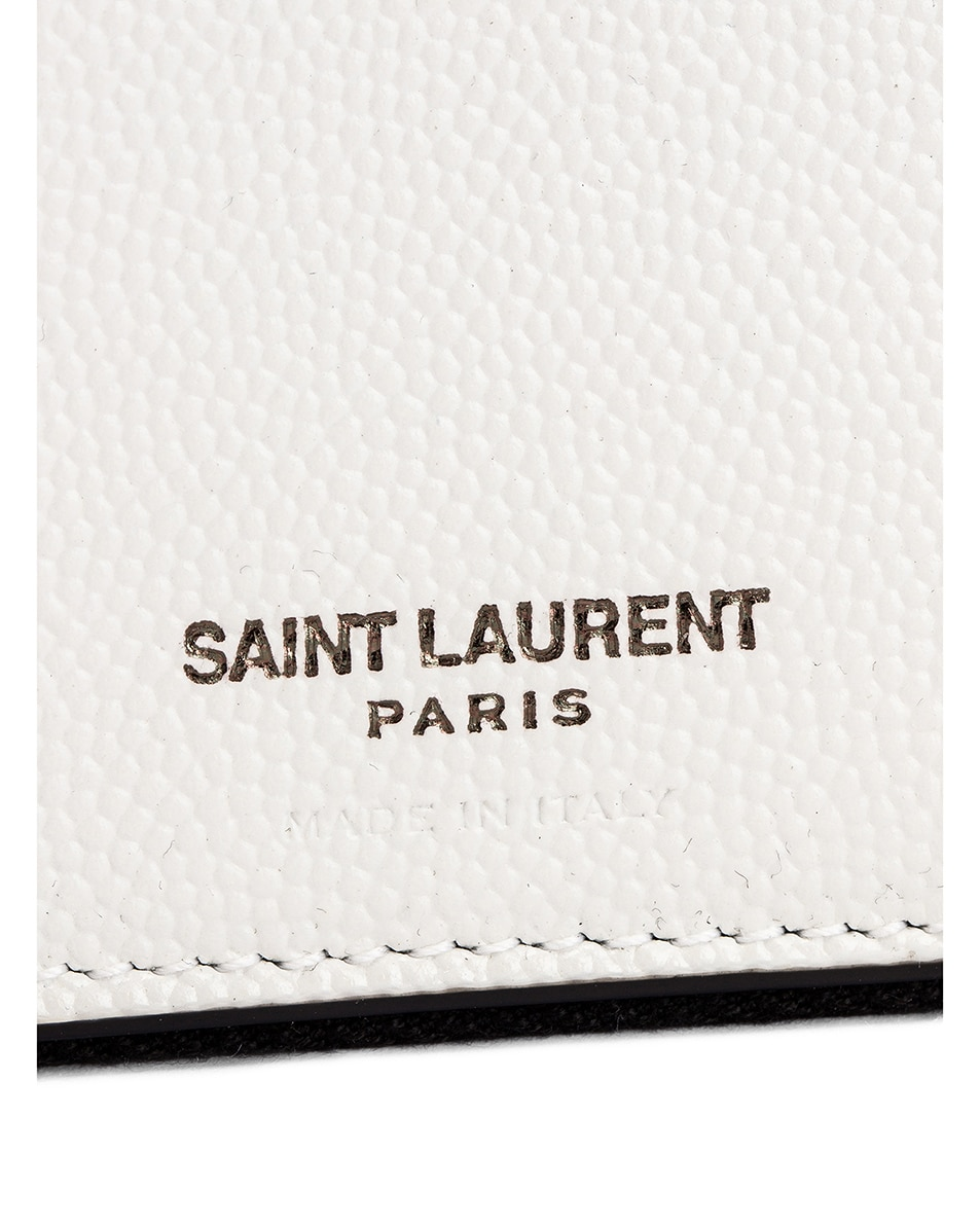 Image 5 of Saint Laurent Monogramme Dot Wallet in White & Black