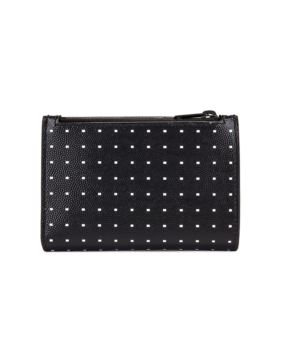Image 2 of Saint Laurent Monogramme Dot Wallet in Black & White