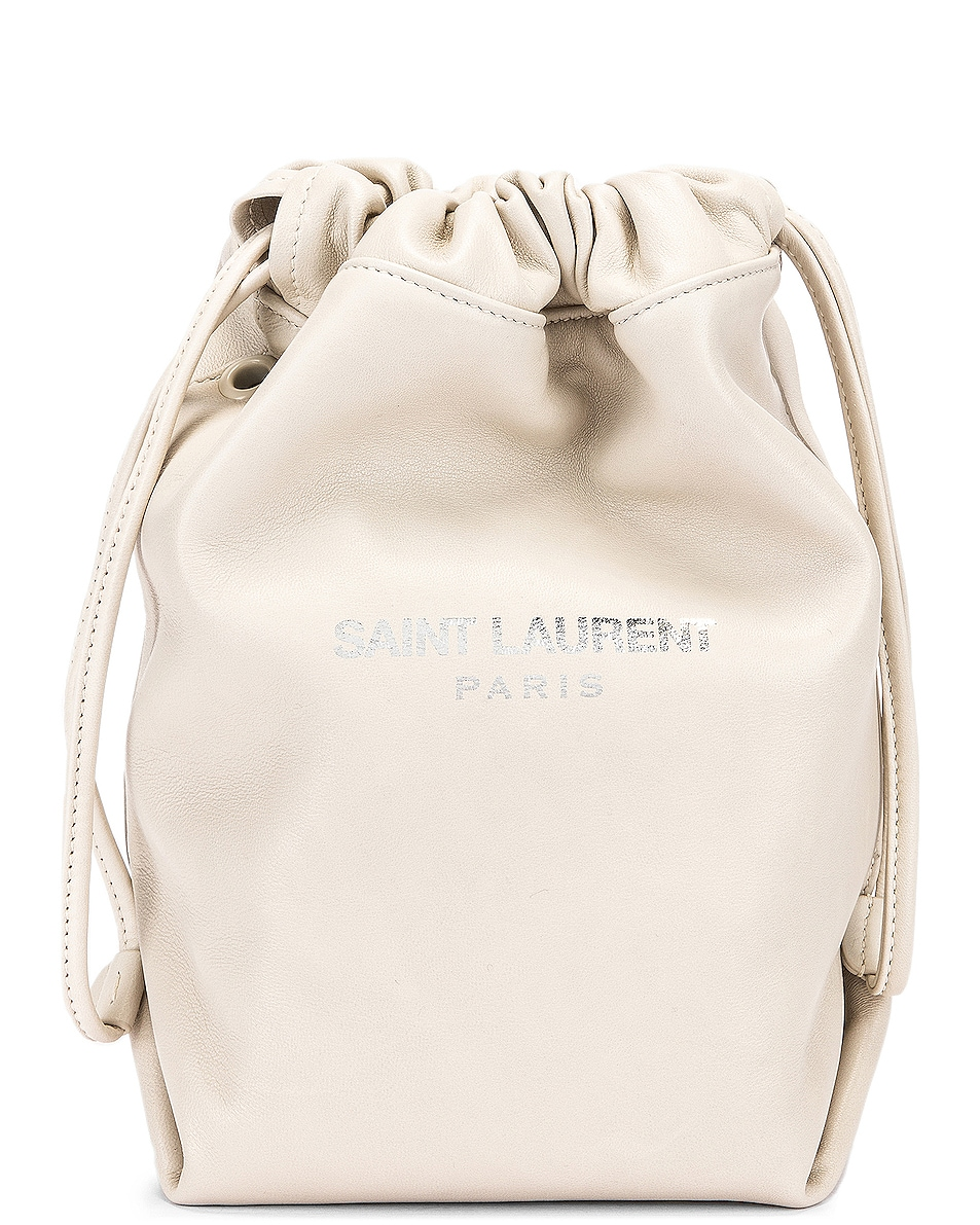 Image 1 of Saint Laurent Teddy Pouch Chain Bag in Crema Soft