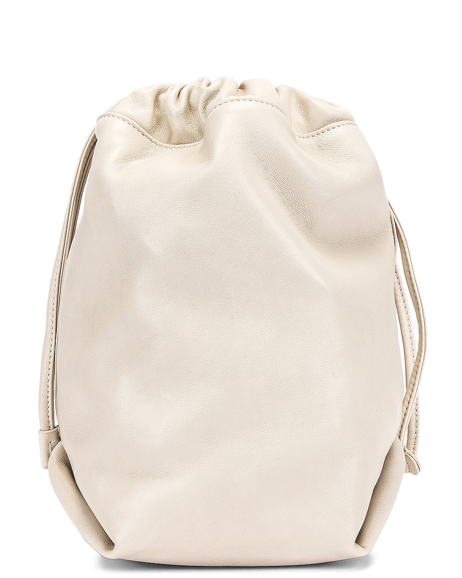 Image 2 of Saint Laurent Teddy Pouch Chain Bag in Crema Soft