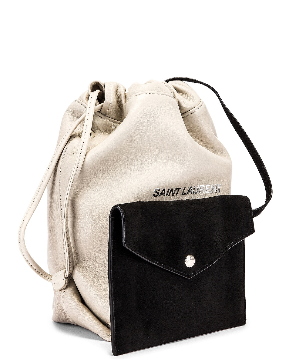 Image 3 of Saint Laurent Teddy Pouch Chain Bag in Crema Soft