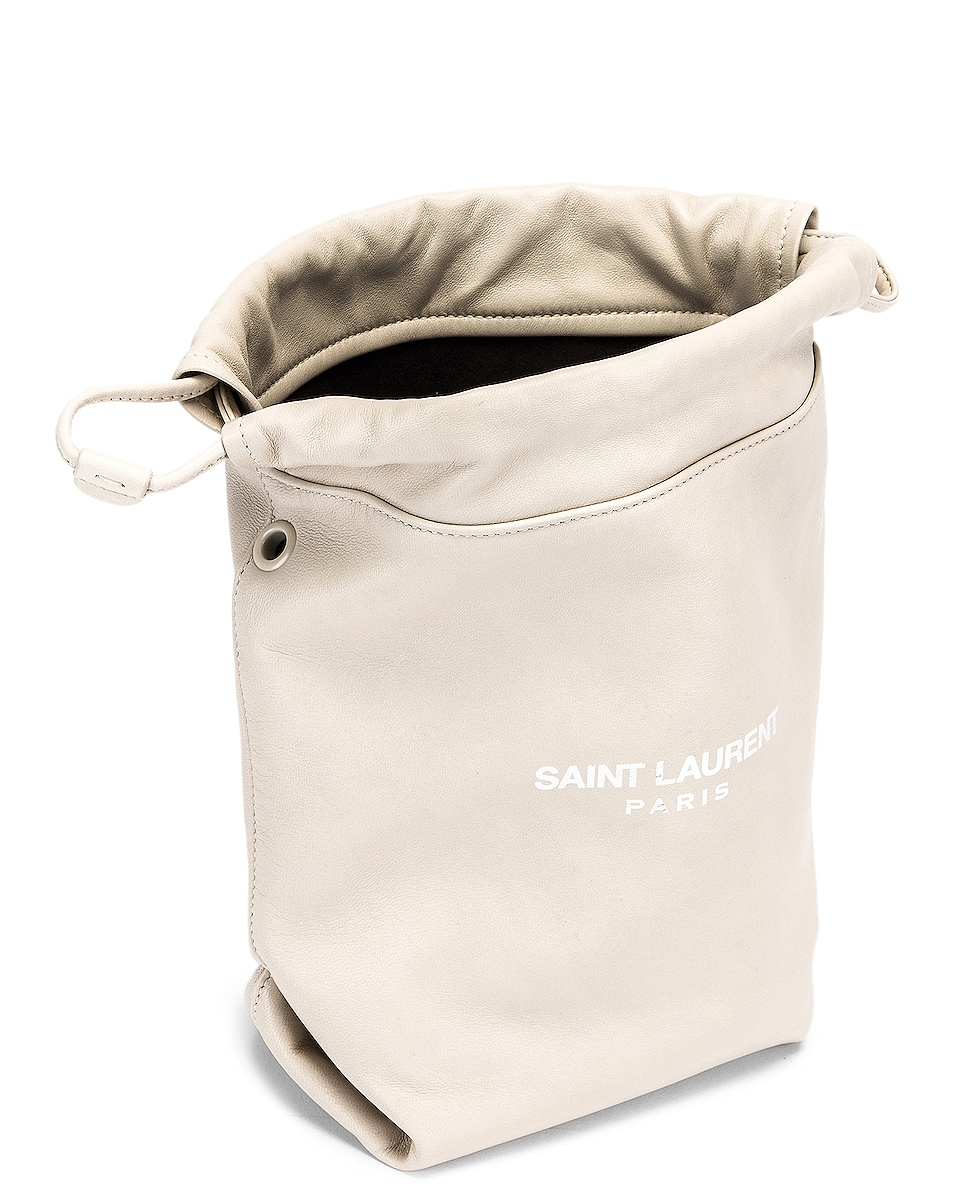 Image 4 of Saint Laurent Teddy Pouch Chain Bag in Crema Soft