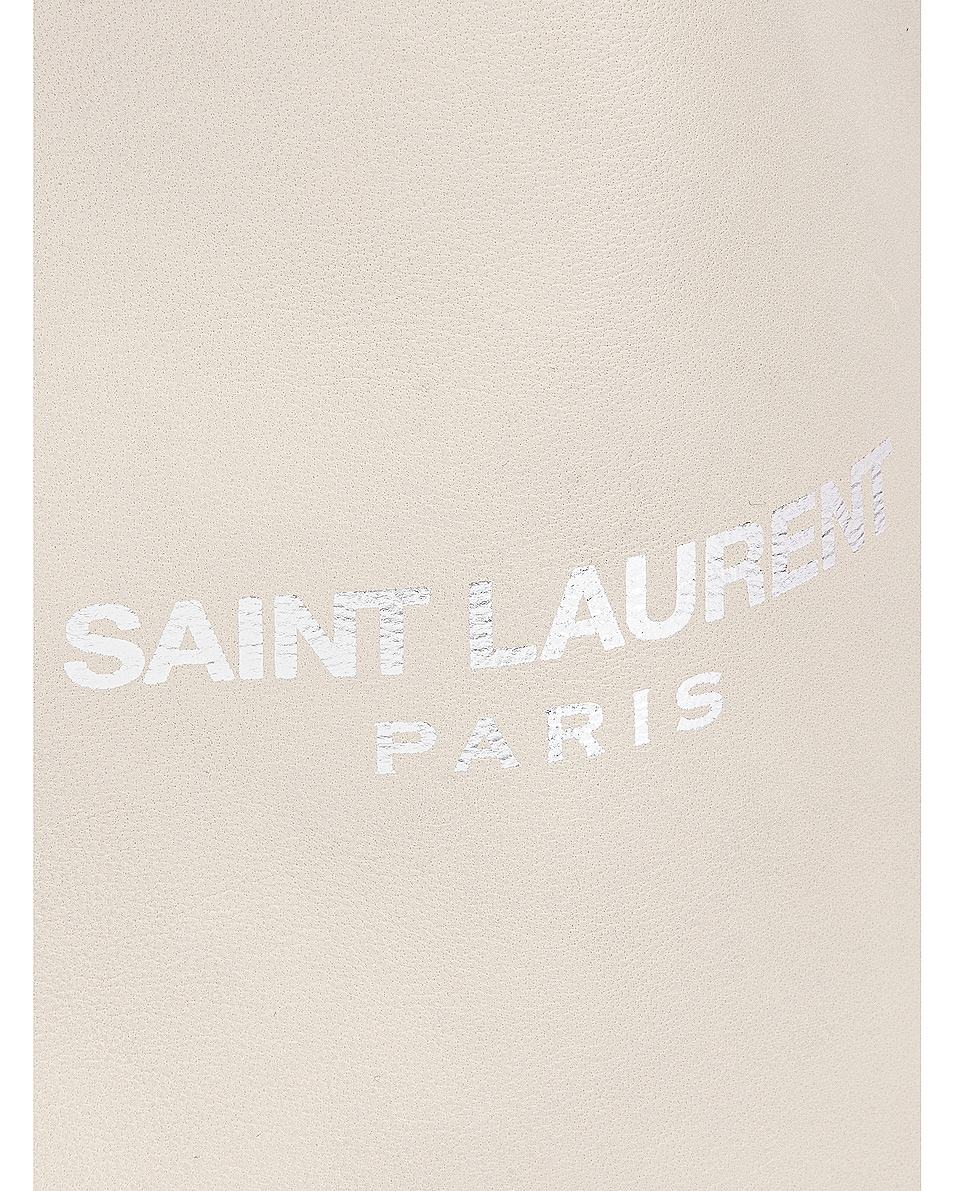 Image 6 of Saint Laurent Teddy Pouch Chain Bag in Crema Soft