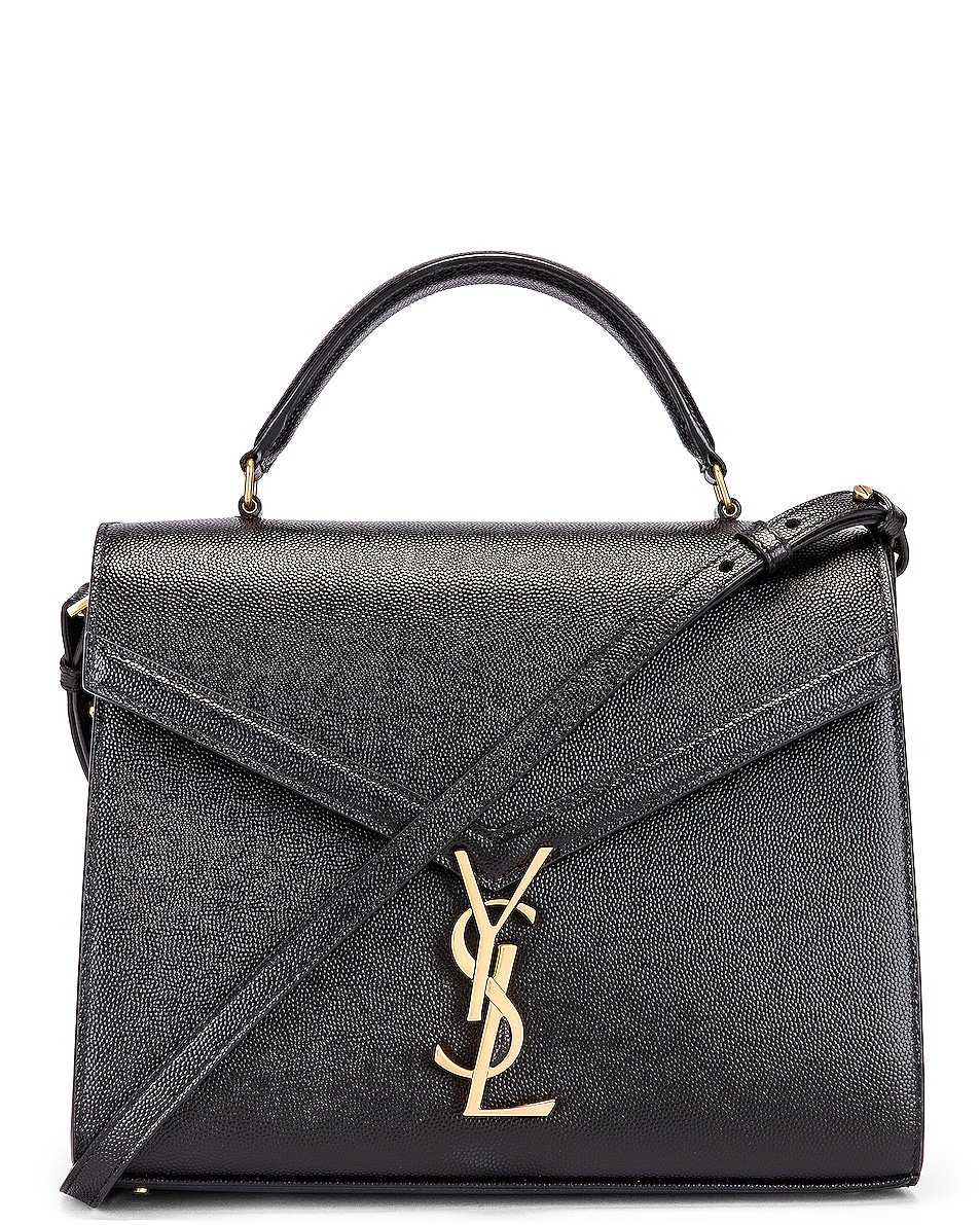 Image 1 of Saint Laurent Medium Monogramme Cassandra Shoulder Bag in Black & Rouge Legion