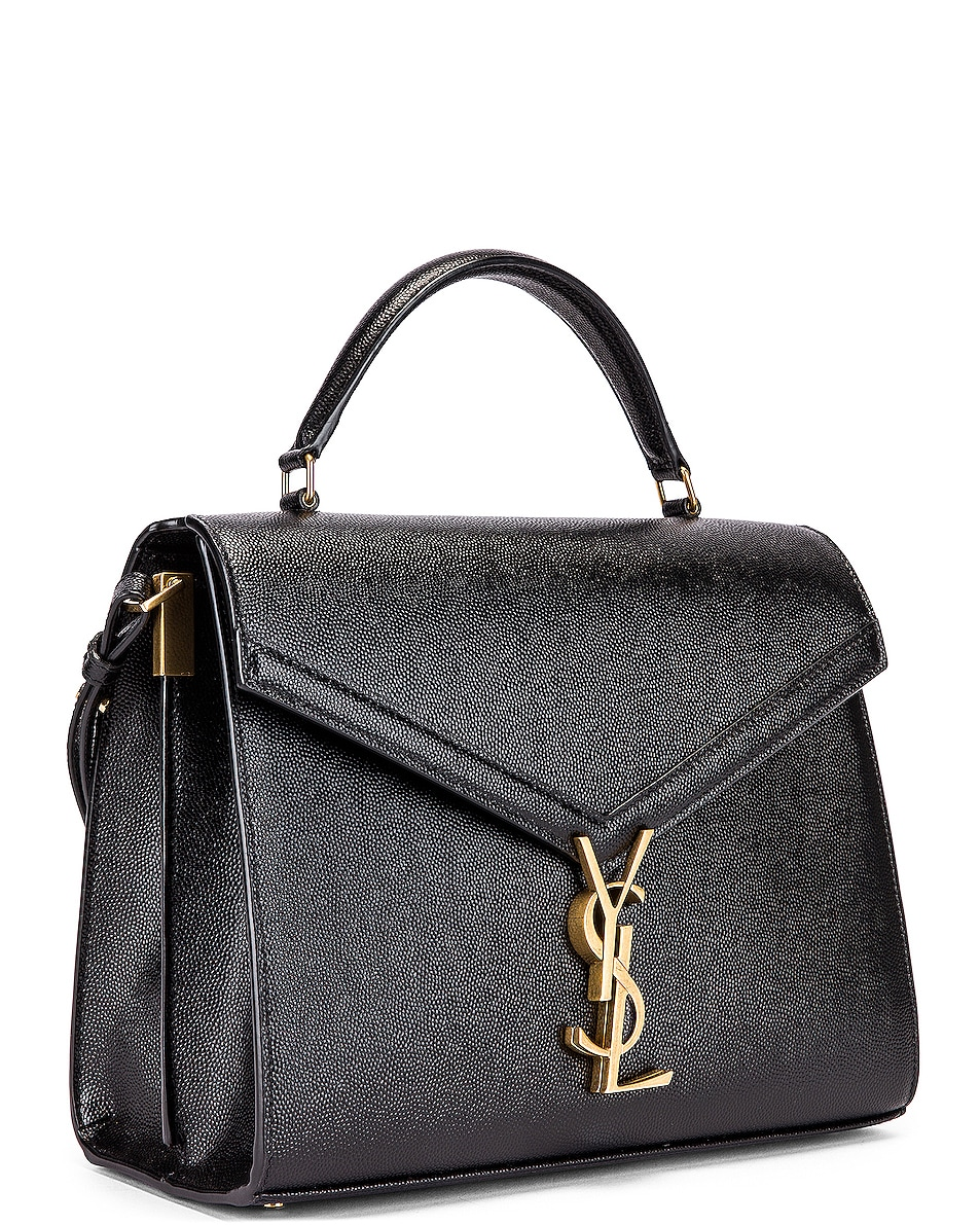 Image 3 of Saint Laurent Medium Monogramme Cassandra Shoulder Bag in Black & Rouge Legion