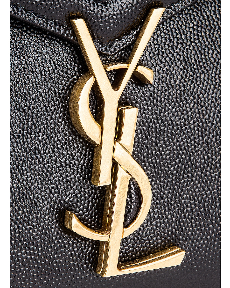 Image 7 of Saint Laurent Medium Monogramme Cassandra Shoulder Bag in Black & Rouge Legion