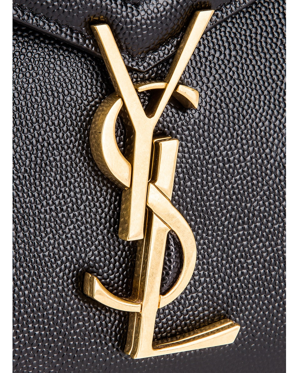 Image 8 of Saint Laurent Medium Monogramme Cassandra Shoulder Bag in Black & Rouge Legion