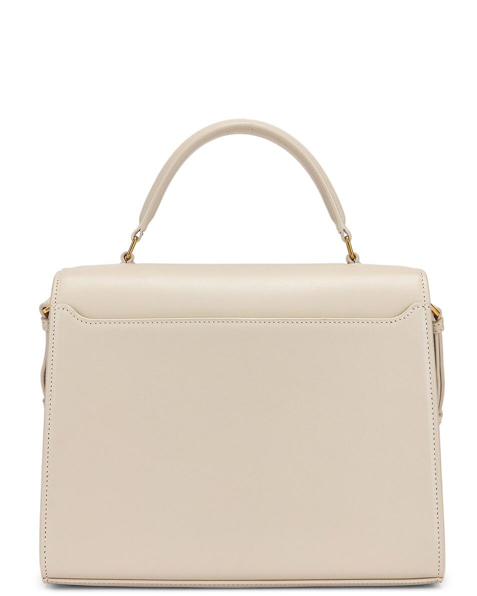 Image 3 of Saint Laurent Medium Monogramme Cassandra Shoulder Bag in Crema Soft & Rouge Legion