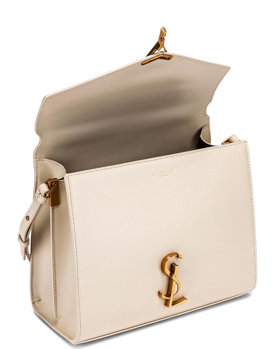 Image 5 of Saint Laurent Medium Monogramme Cassandra Shoulder Bag in Crema Soft & Rouge Legion