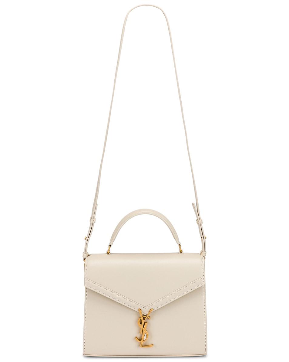 Image 6 of Saint Laurent Medium Monogramme Cassandra Shoulder Bag in Crema Soft & Rouge Legion