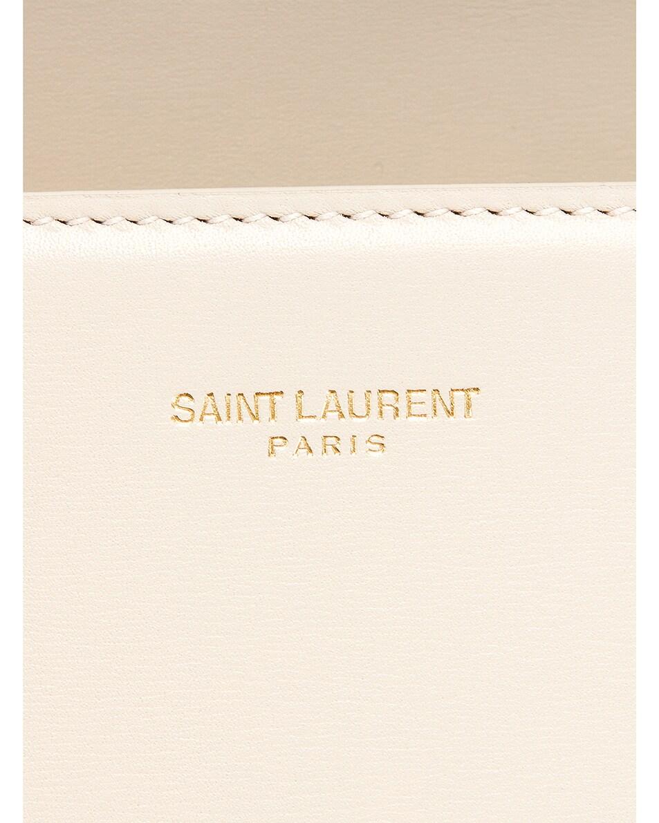 Image 7 of Saint Laurent Medium Monogramme Cassandra Shoulder Bag in Crema Soft & Rouge Legion