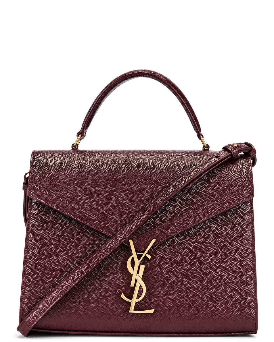 Image 1 of Saint Laurent Medium Monogramme Cassandra Shoulder Bag in Rouge Legion