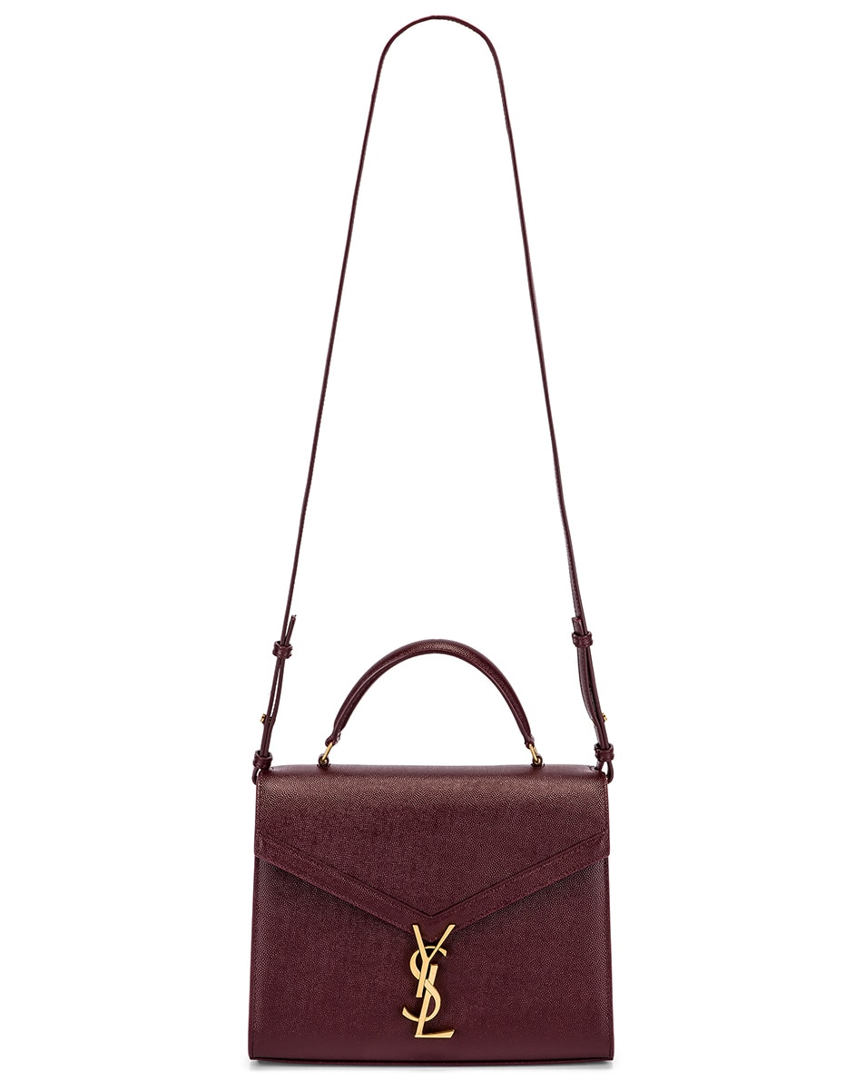 Image 6 of Saint Laurent Medium Monogramme Cassandra Shoulder Bag in Rouge Legion