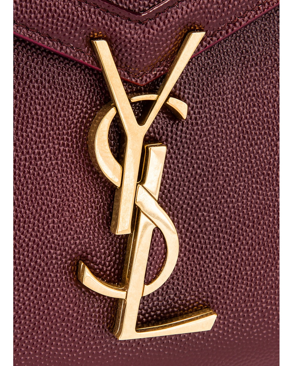 Image 8 of Saint Laurent Medium Monogramme Cassandra Shoulder Bag in Rouge Legion