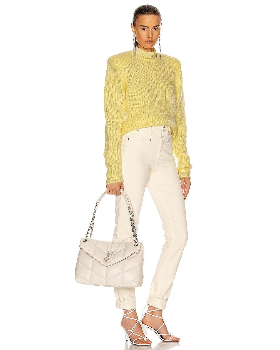 Image 2 of Saint Laurent Medium Monogramme Puffer Loulou Shoulder Bag in Crema Soft