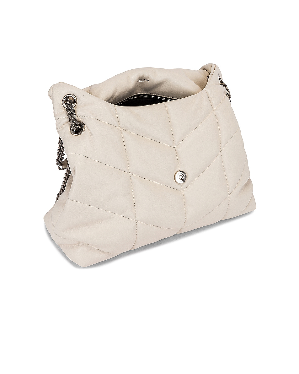 Image 5 of Saint Laurent Medium Monogramme Puffer Loulou Shoulder Bag in Crema Soft