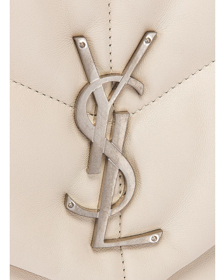 Image 8 of Saint Laurent Medium Monogramme Puffer Loulou Shoulder Bag in Crema Soft