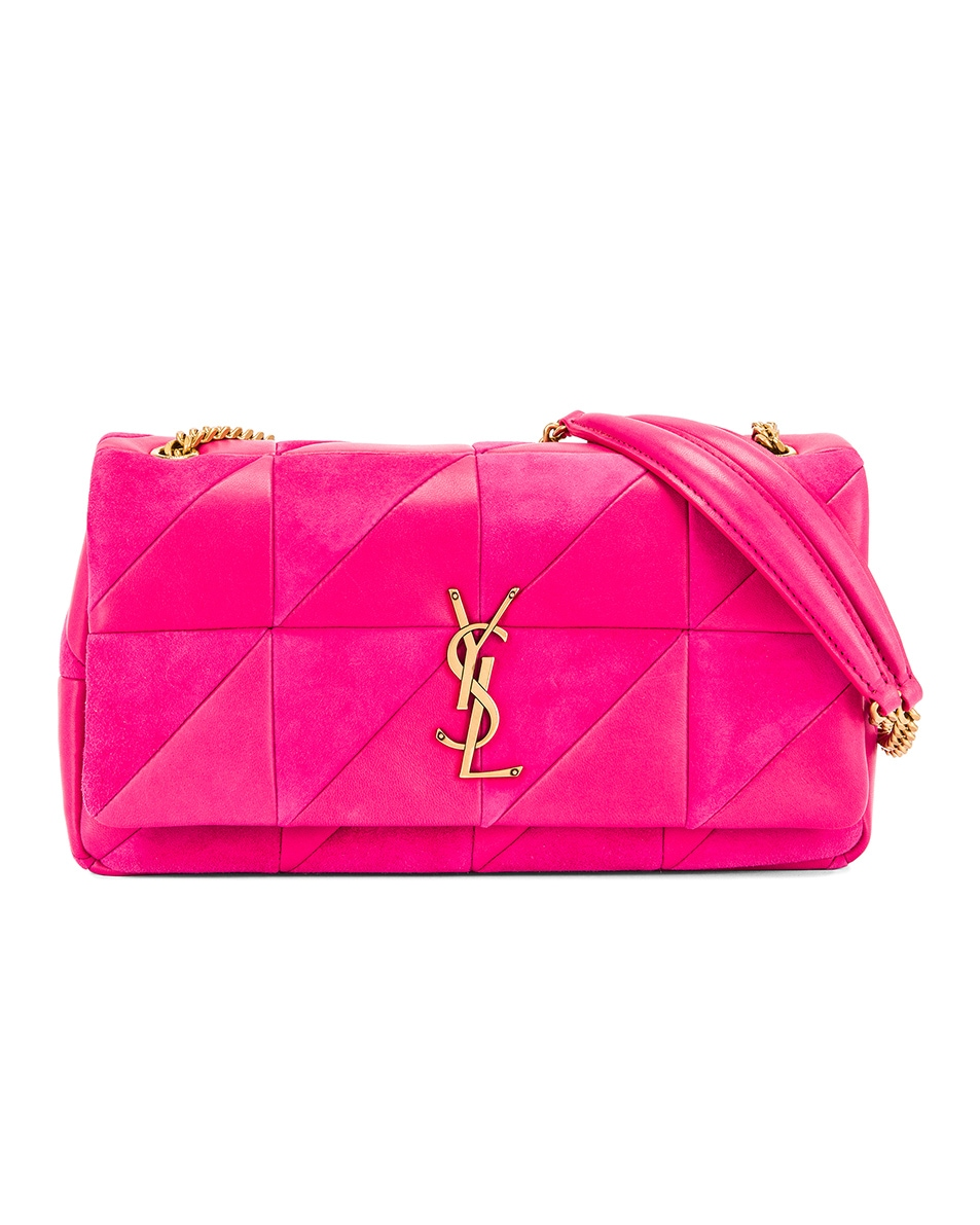 Image 1 of Saint Laurent Jamie Monogramme Bag in Fresh Fuchsia