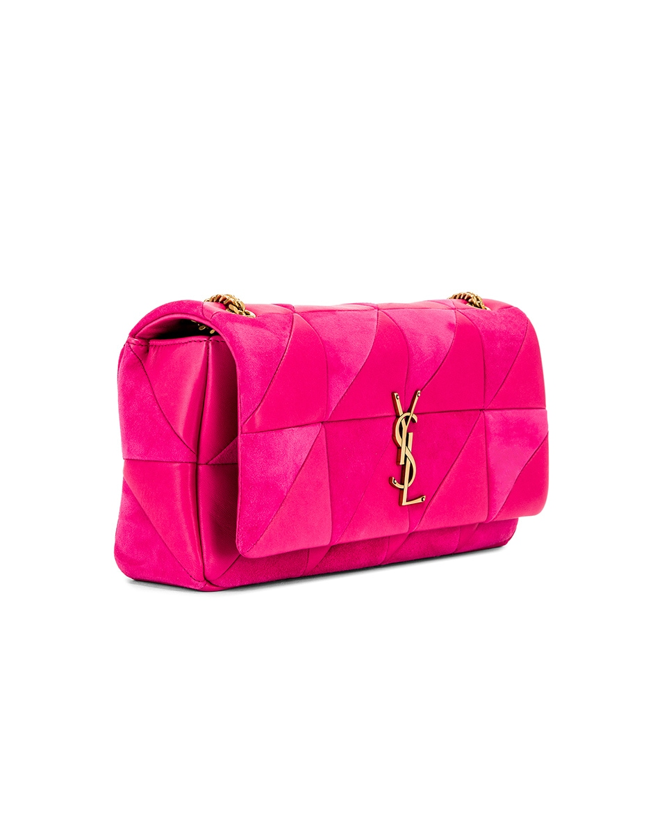 Image 4 of Saint Laurent Jamie Monogramme Bag in Fresh Fuchsia