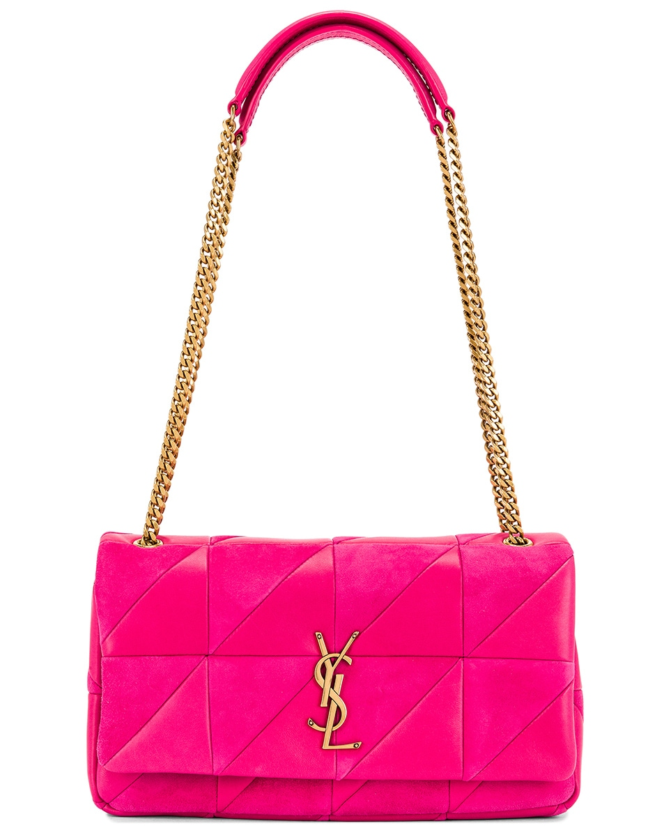Image 6 of Saint Laurent Jamie Monogramme Bag in Fresh Fuchsia