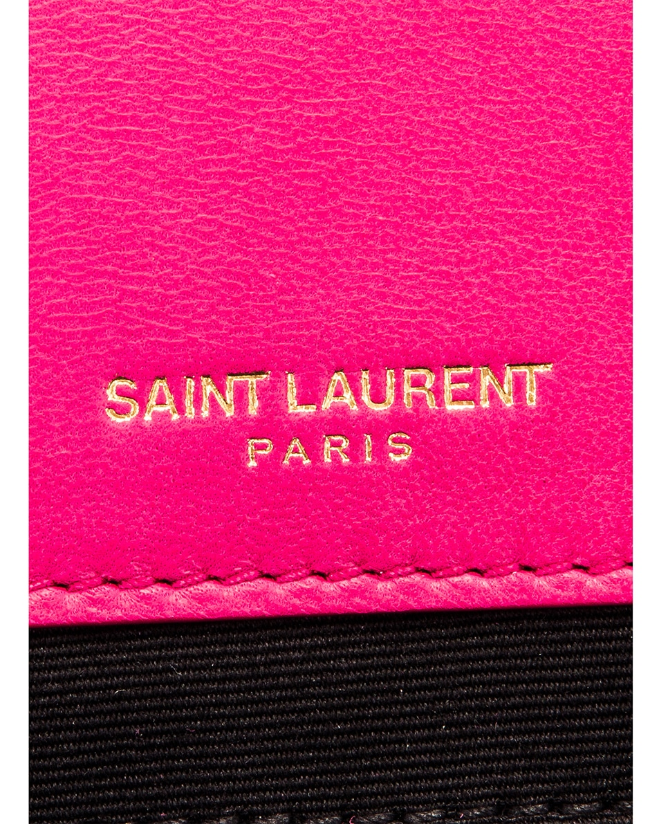 Image 7 of Saint Laurent Jamie Monogramme Bag in Fresh Fuchsia