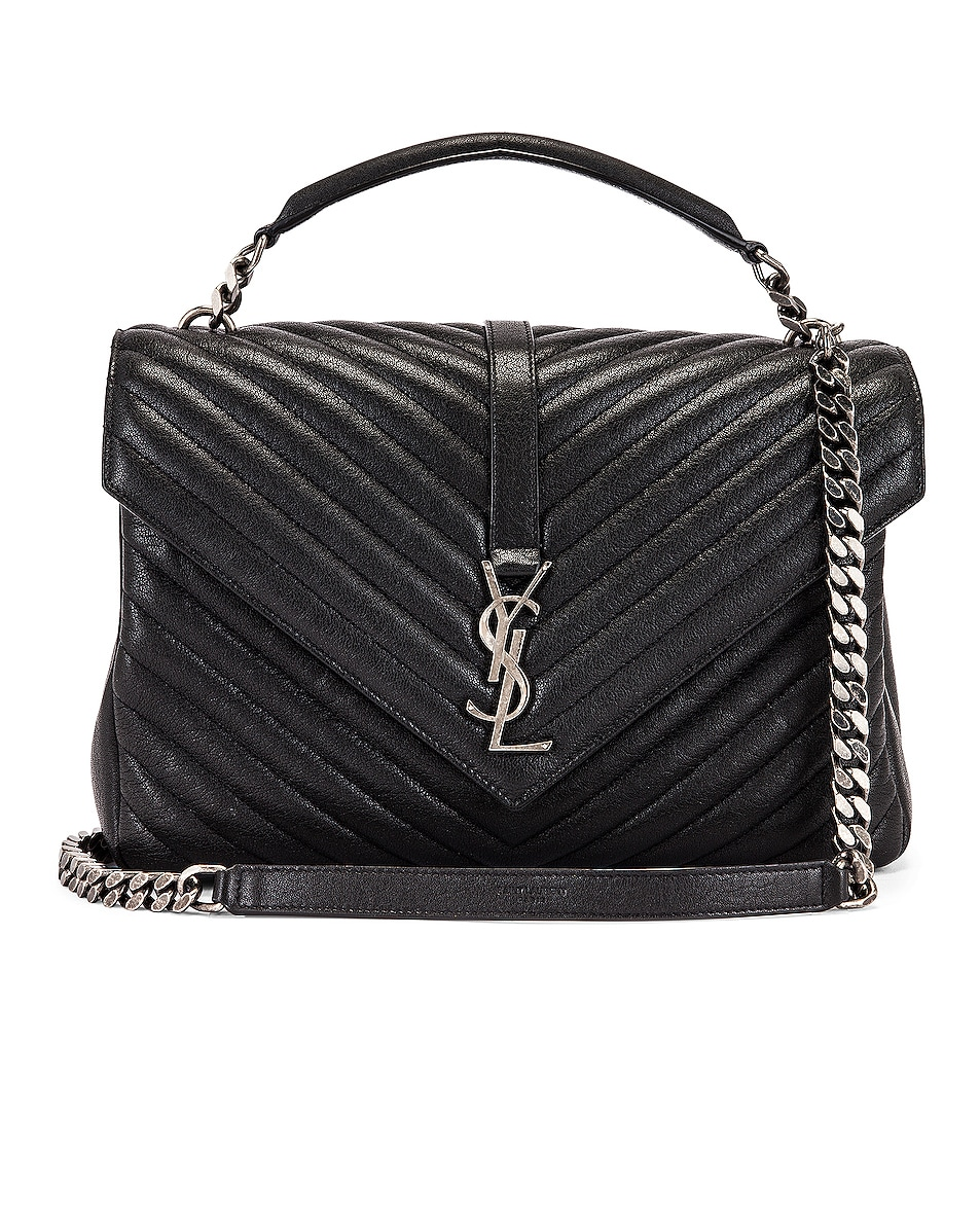 Image 1 of Saint Laurent Large College Monogramme Bag in Black