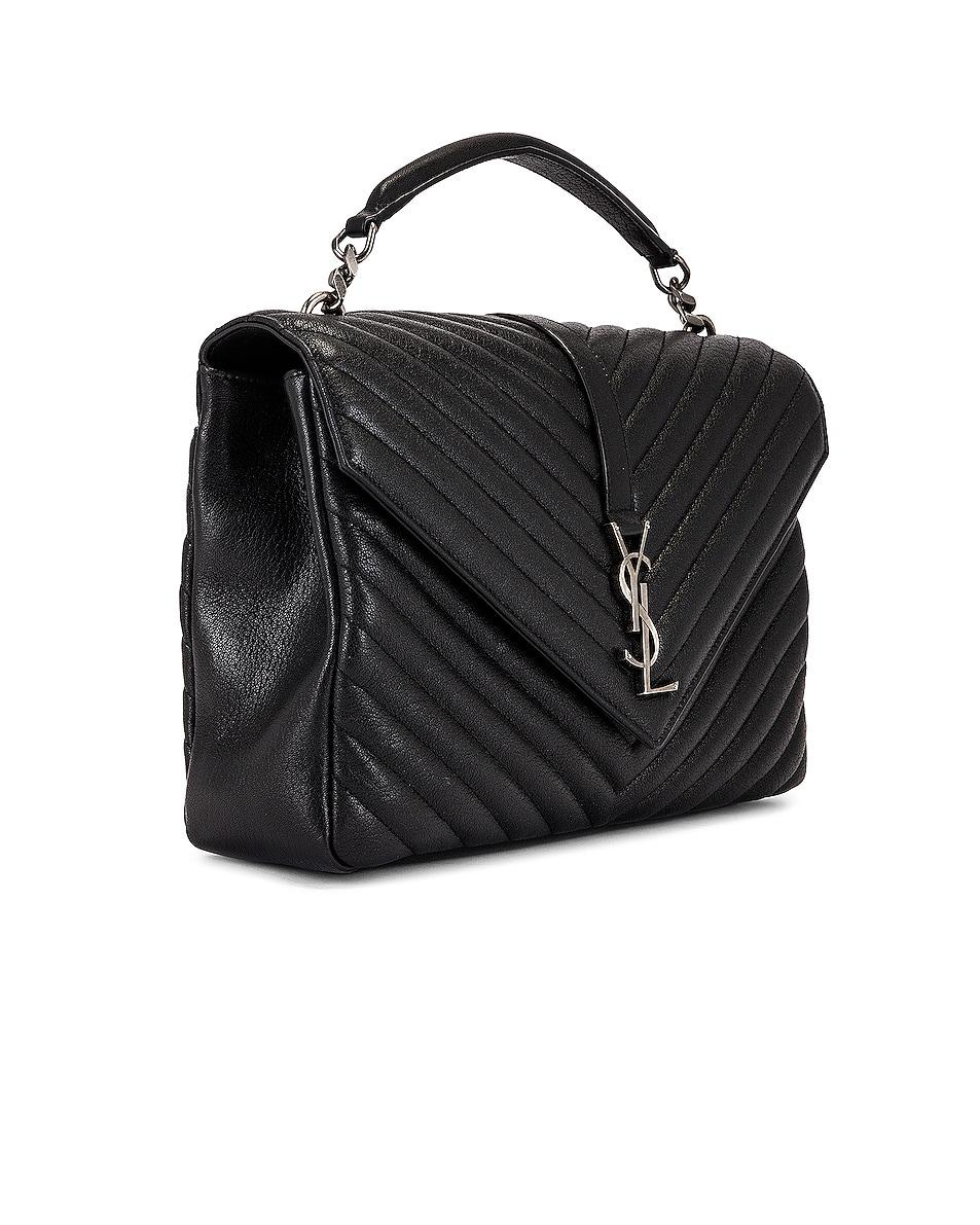 Image 4 of Saint Laurent Large College Monogramme Bag in Black