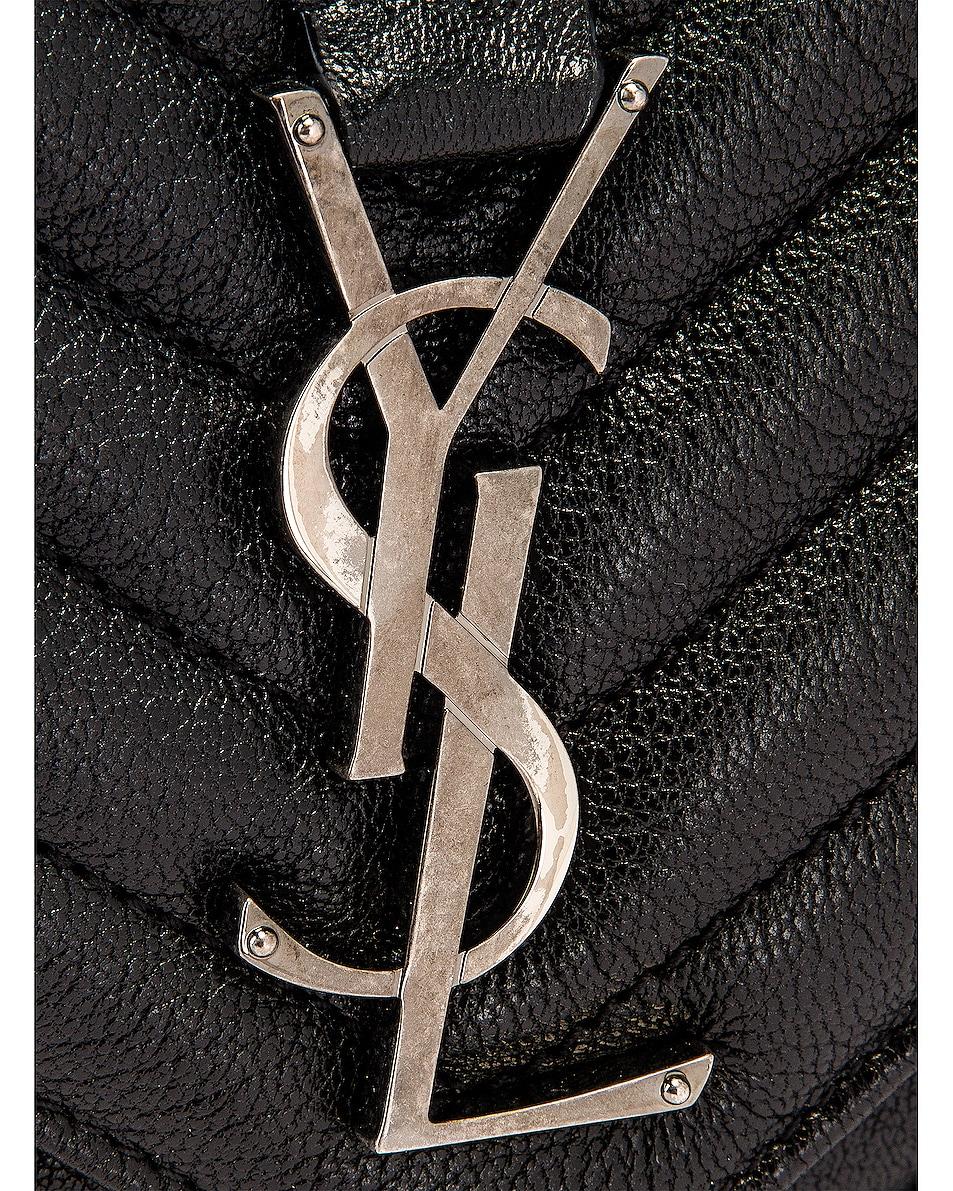 Image 8 of Saint Laurent Large College Monogramme Bag in Black