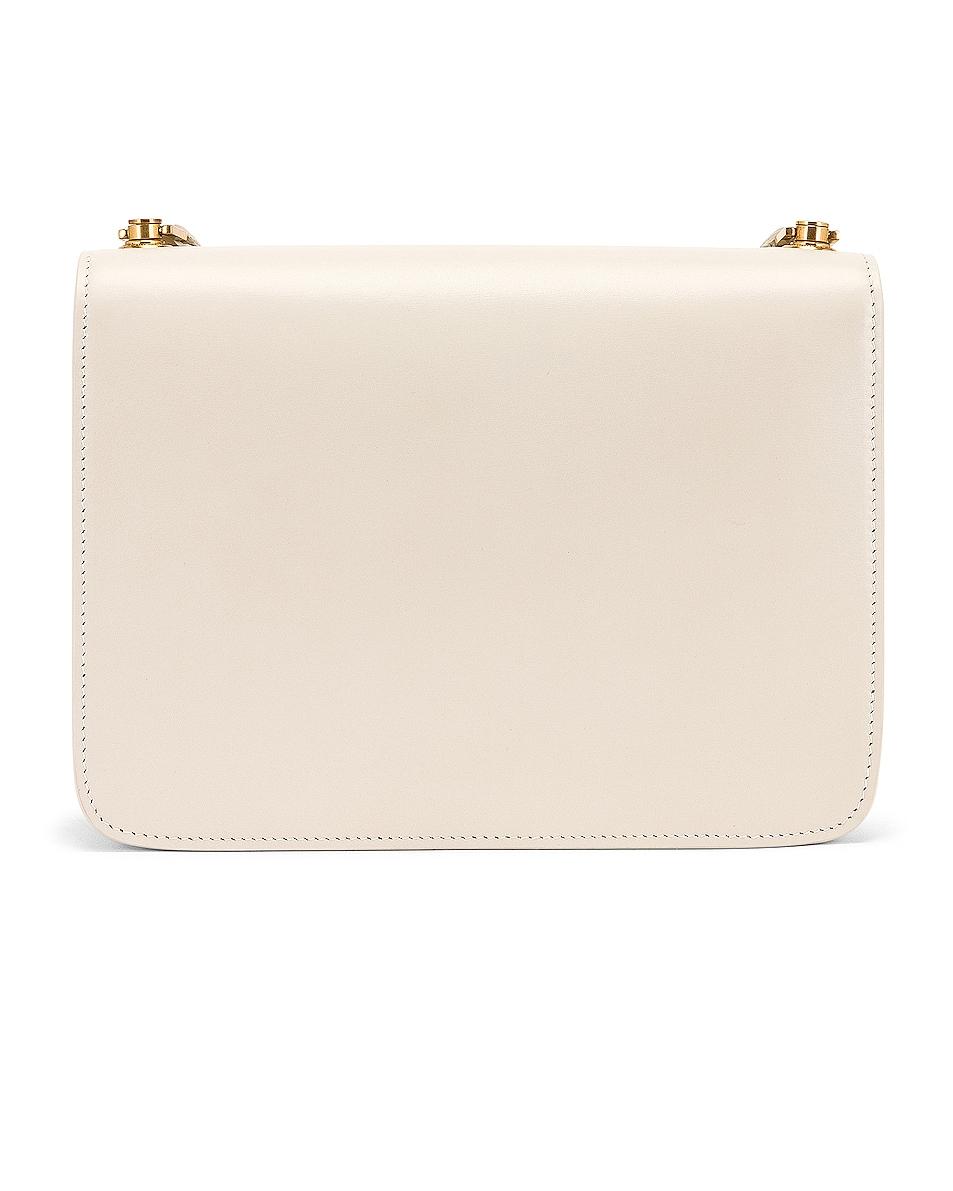 Image 3 of Saint Laurent Carre Shoulder Bag in Crema Soft