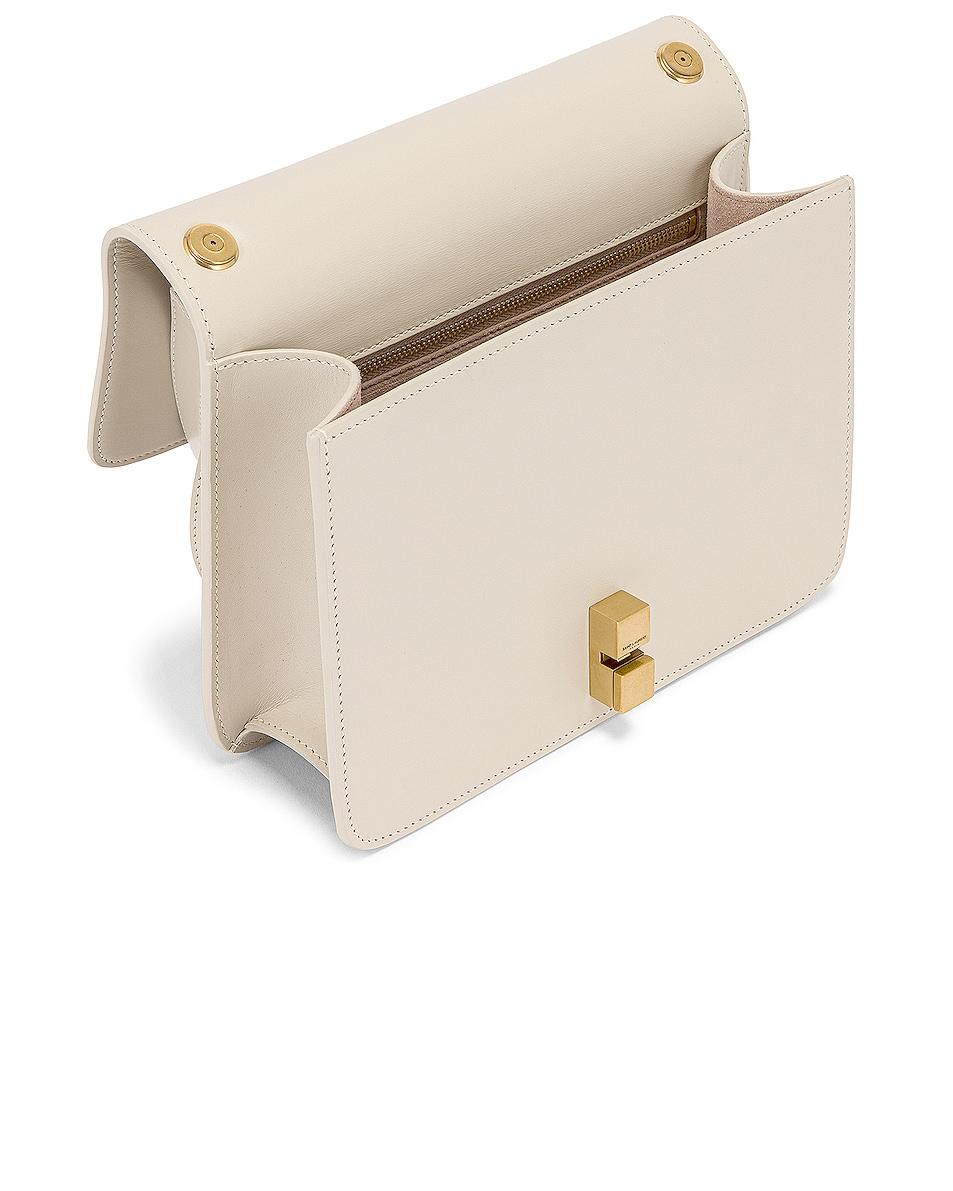 Image 5 of Saint Laurent Carre Shoulder Bag in Crema Soft