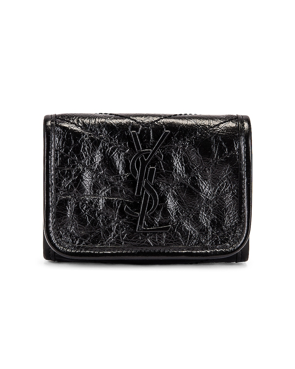 Image 1 of Saint Laurent Credit Card Wallet in Black