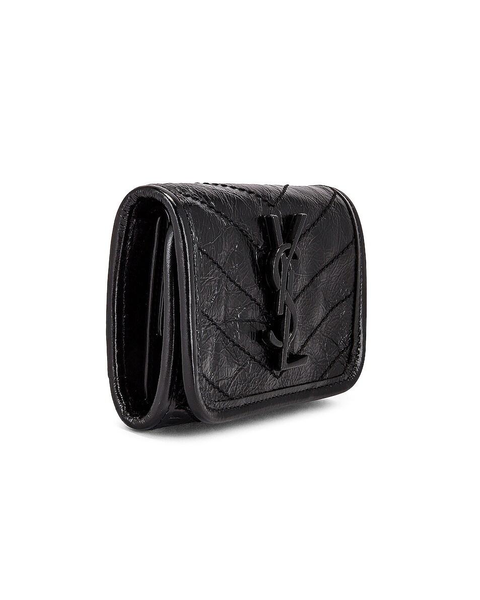 Image 3 of Saint Laurent Credit Card Wallet in Black