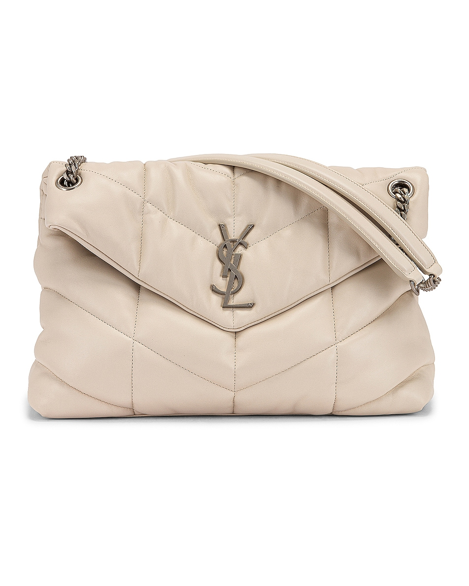 Image 1 of Saint Laurent Medium LouLou Monogramme Bag in Crema Soft