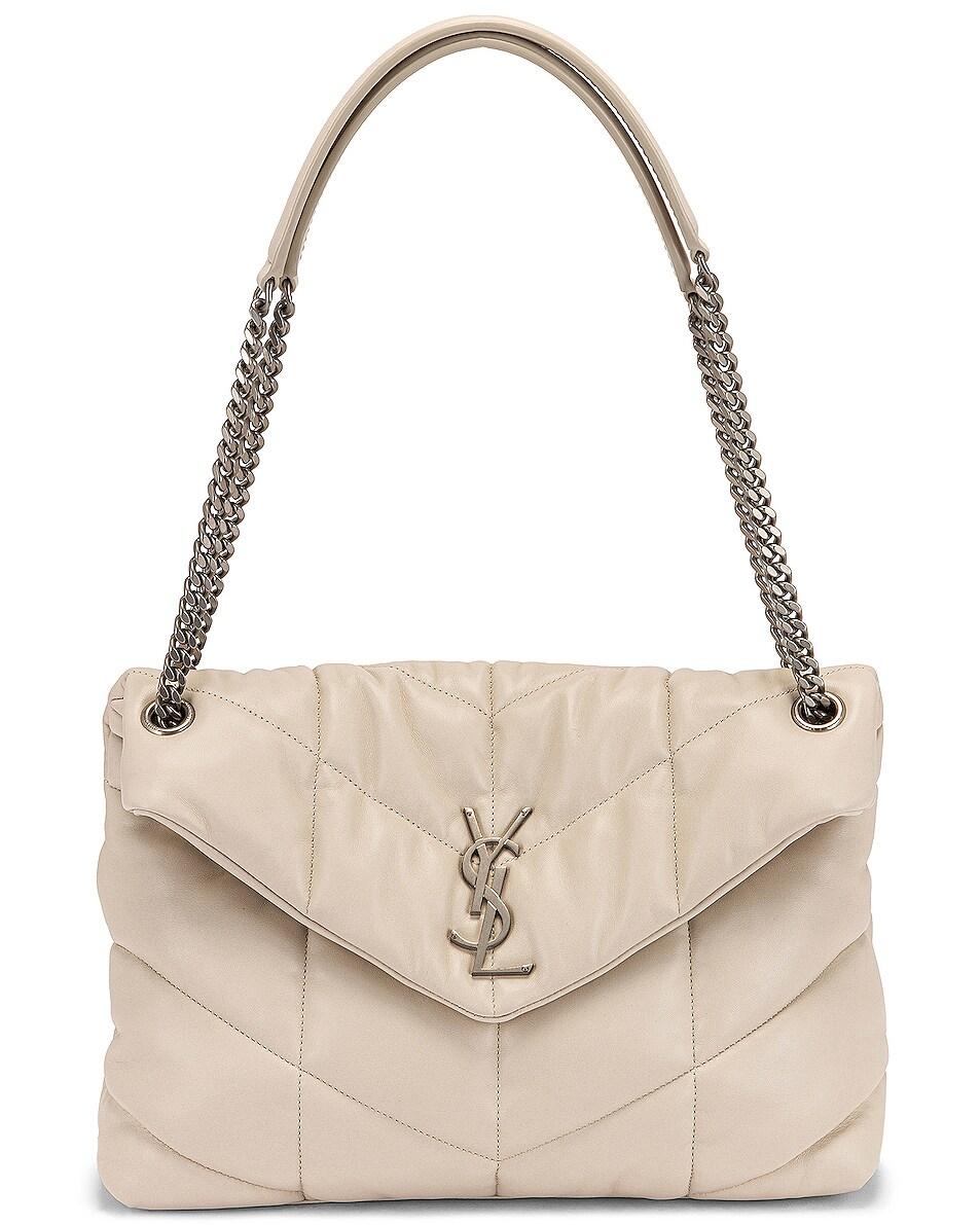 Image 6 of Saint Laurent Medium LouLou Monogramme Bag in Crema Soft